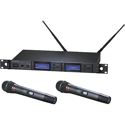Audio-Technica AEW-5244 Artist Elite Dual Receiver Cardioid Dynamic Mic System-thumbnail