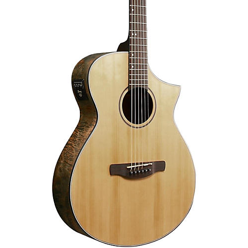 Ibanez AEW Series AEWC24MBLG Maple Burl Acoustic-Electric Guitar-thumbnail