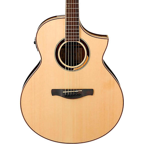 Ibanez AEW51 Exotic Wood Acoustic-Electric Guitar Natural-thumbnail