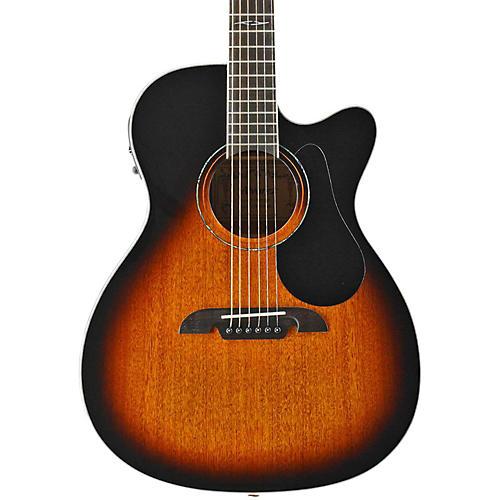 Alvarez AF660EHB OM/Folk Acoustic Electric Guitar Vintage Sunburst