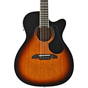 Alvarez AF660ESB OM/Folk Acoustic Electric Guitar