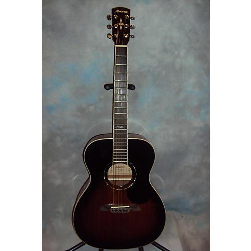 Alvarez AF660ESB OM/Folk Vintage Sunburst Acoustic Electric Guitar