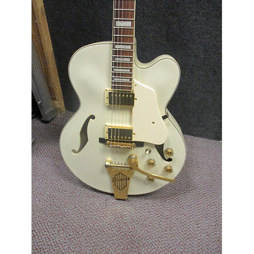 Ibanez AF75 Antique White Hollow Body Electric Guitar-thumbnail