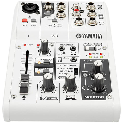 Yamaha AG03 3-Channel Mixer/USB Interface For IOS/MAC/PC-thumbnail
