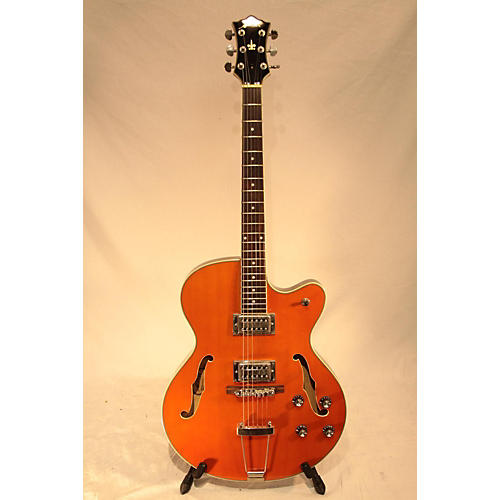 used arbor aj137 hollow body electric guitar orange guitar center. Black Bedroom Furniture Sets. Home Design Ideas