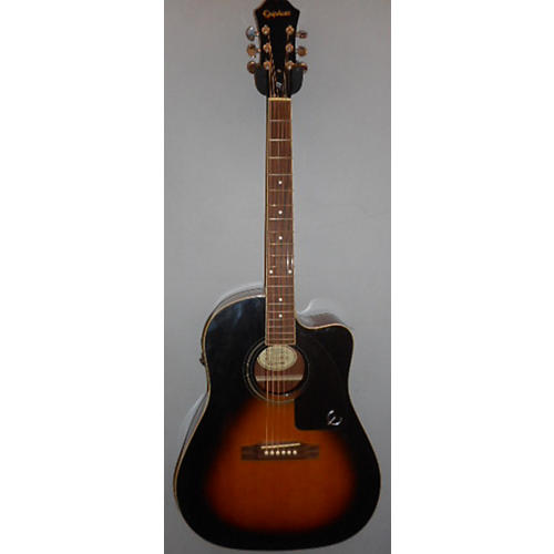 Epiphone AJ200SCE Vintage Sunburst Acoustic Electric Guitar-thumbnail