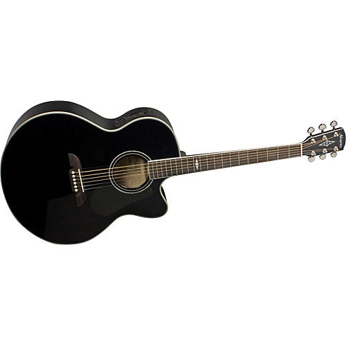 Alvarez AJ414CBK Artist Cutaway Jumbo Acoustic-Electric Guitar with System 600 Mk II-thumbnail