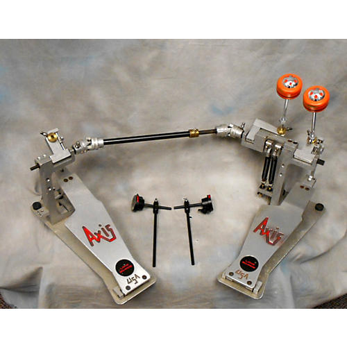 Axis AL2 Stainless Steel Double Bass Drum Pedal stainless steel