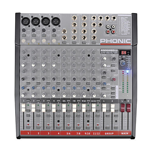Phonic AM 442D USB Mixer with USB Interface