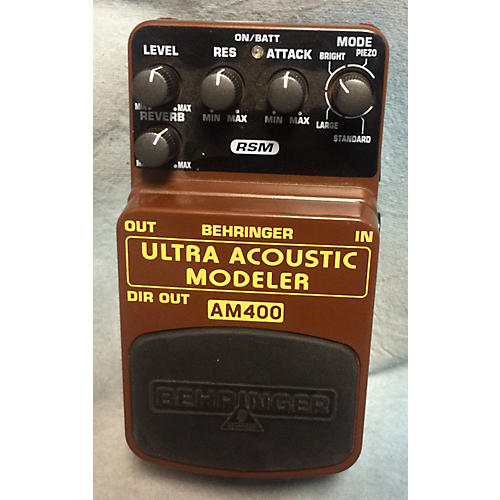 Behringer AM400 Ultra Acoustic Modeler Guitar Modeling Brown Pedal-thumbnail