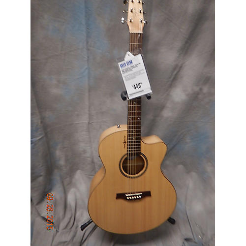 Seagull AMBER TRAIL CW MINI JUMBO NAT Acoustic Electric Guitar-thumbnail