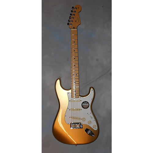 Fender AMERICAN STRATOCASTER LIMITED ED GOLD Solid Body Electric Guitar-thumbnail
