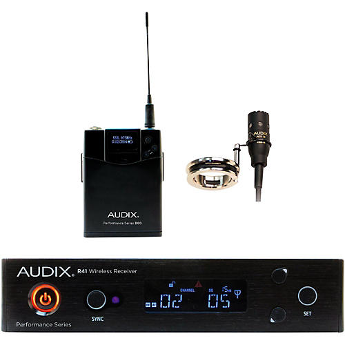 Audix AP41 FLUTE Lavalier Wireless System 518-554 MHz