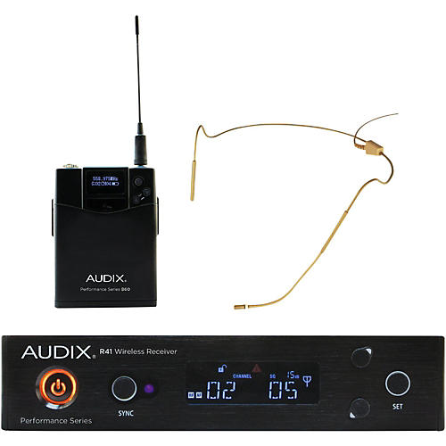 Audix AP41HT5BG Headset Wireless system w/ HT5 Omni Condenser mic - Beige 518-554 MHz