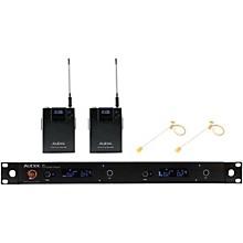 Audix AP42 HT7BG Dual Headset Wireless System - Beige Level 1 518-554 MHz