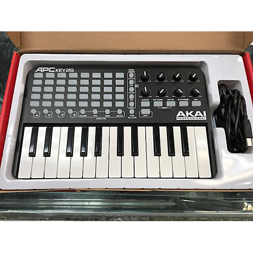 used akai professional apc key25 midi controller guitar center. Black Bedroom Furniture Sets. Home Design Ideas