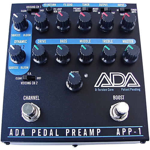 ADA Signal Processors APP-1 2-Channel Preamp Guitar Effects Pedal with D-Torsion Core, Effects Loop and Boost