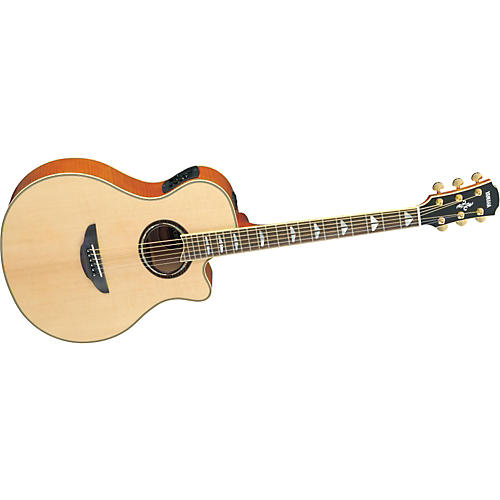 Yamaha APX1000 Thinline Cutaway Acoustic-Electric Guitar Natural