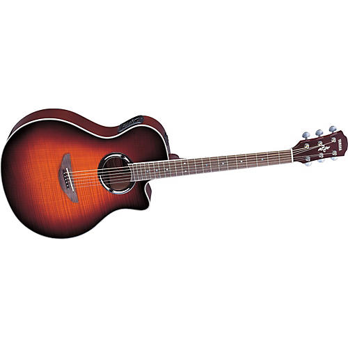 Yamaha APX500FM Flame Maple Thinline Cutaway Acoustic-Electric Guitar-thumbnail