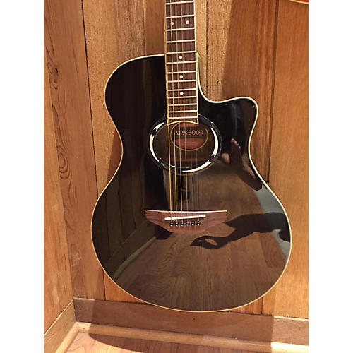 Yamaha APX500II Black Acoustic Electric Guitar-thumbnail