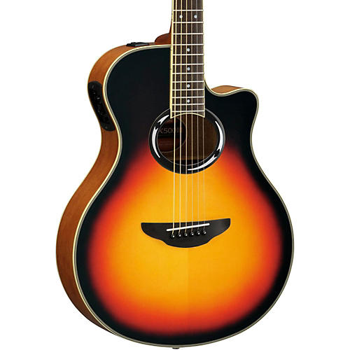 yamaha apx500iii thinline cutaway acoustic electric guitar vintage sunburst guitar center. Black Bedroom Furniture Sets. Home Design Ideas