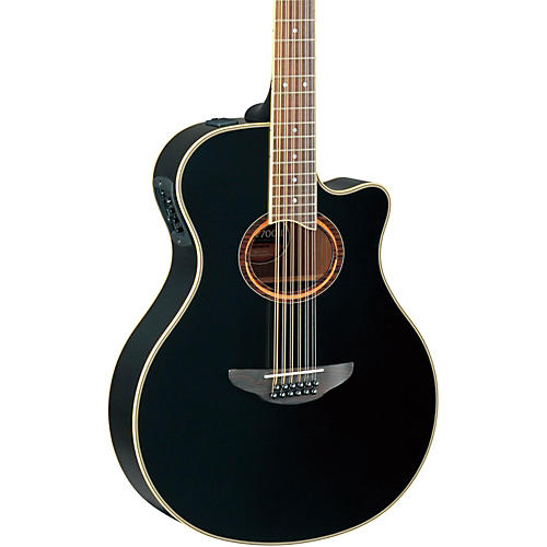 yamaha apx700ii 12 thinline 12 string cutaway acoustic electric guitar black guitar center. Black Bedroom Furniture Sets. Home Design Ideas
