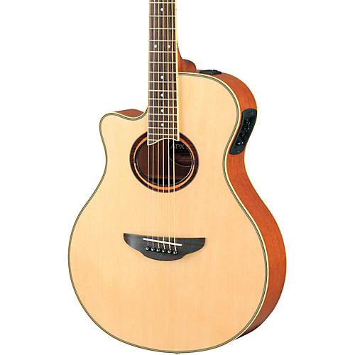 Yamaha APX700IIL Thinline Cutaway Left-Handed Acoustic-Electric Guitar Natural