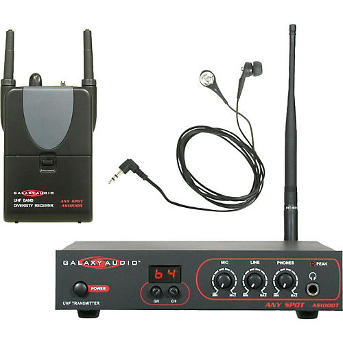 Galaxy Audio AS-1000 Any Spot Wireless In-Ear Personal Monitor System-thumbnail