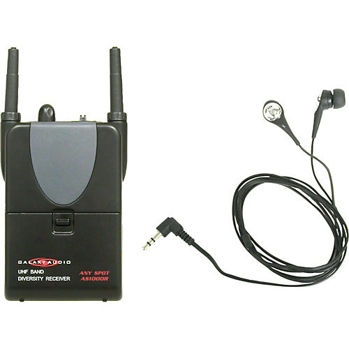 Galaxy Audio AS-1000R Any Spot Wireless Receiver with In-Ear Personal Monitors-thumbnail