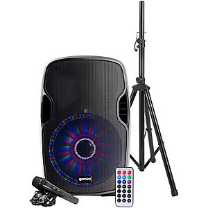 Gemini AS-12BLU-LT-PK 12 in. Powered Bluetooth Speaker Package by Gemini