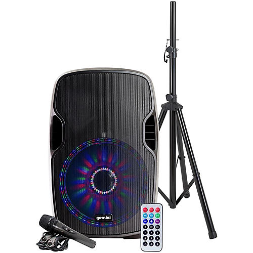 Gemini AS-12BLU-LT-PK 12 in. Powered Bluetooth Speaker Package