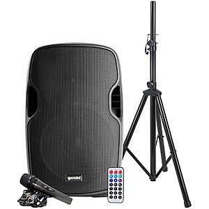 Gemini AS-12BLU-PK 12 in. Powered Bluetooth Speaker Package by Gemini