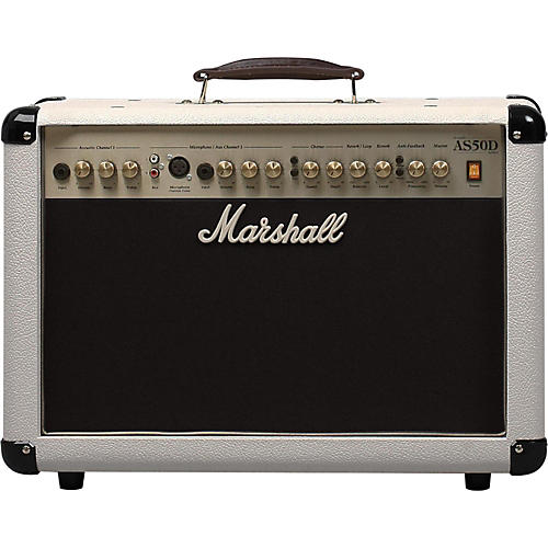 Marshall AS50DC Limited Edition 50W Acoustic Guitar Combo Amp Cream