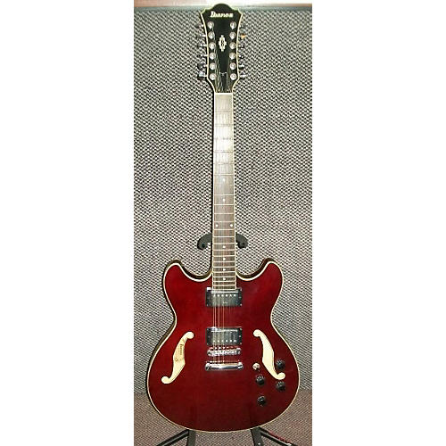 Ibanez AS7312 12 String Artcore Red Hollow Body Electric Guitar