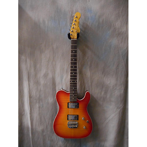 G&L ASAT Deluxe Solid Body Electric Guitar Cherry Sunburst
