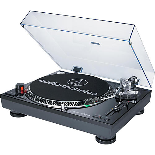 Audio-Technica AT-LP120BK-USB Direct-Drive Professional Record Player (USB & Analog) - Black-thumbnail