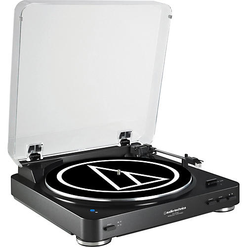 Audio-Technica AT-LP60BK Fully Automatic Belt-Drive Stereo Record Player-thumbnail
