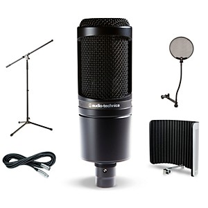 Audio-Technica AT2020 VS1 Stand Pop Filter and Cable Kit by Audio Technica