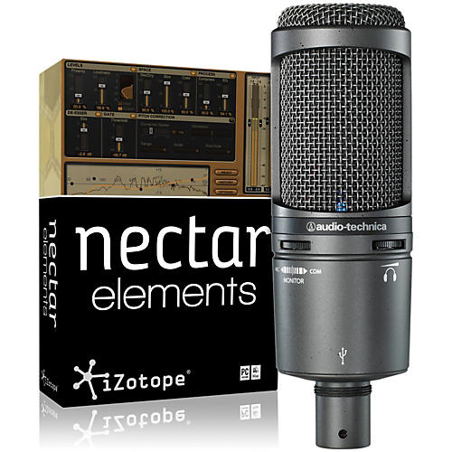 Audio-Technica AT2020USB Mic with Nectar Elements Bundle