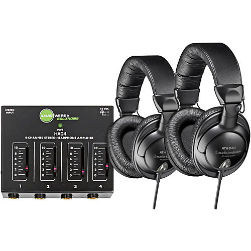 Audio-Technica ATH-D40fs Pair with Headphone Amp
