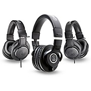 Audio-Technica ATH-M40x Headphones with 2 ATH-M20x Headphones