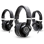 Audio-Technica ATH-M40x Headphones with 2 ATH-M30x Headphones