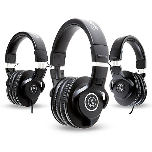 Audio-Technica ATH-M40x Headphones with 2 ATH-M30x Headphones-thumbnail