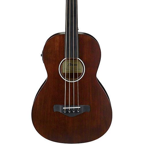 ibanez avnb1fe fretless parlor acoustic electric bass guitar open pore natural guitar center. Black Bedroom Furniture Sets. Home Design Ideas