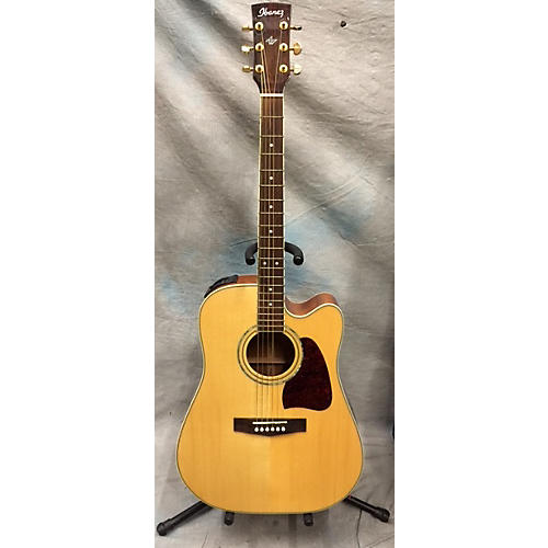 In Store Used AW100CE W\CASE Natural Acoustic Electric Guitar