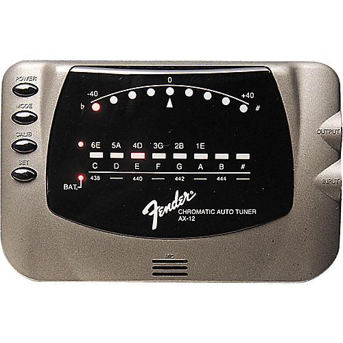 Fender AX-12 Chromatic Tuner Silver