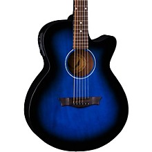 AXS Performer Acoustic-Electric Guitar Blue Burst