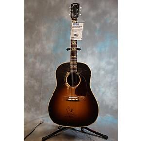 used gibson aaron lewis aged signed southern jumbo acoustic electric guitar vintage sunburst. Black Bedroom Furniture Sets. Home Design Ideas