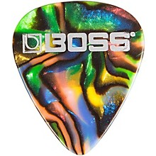Boss Abalone Celluloid Guitar Pick 12-Pack