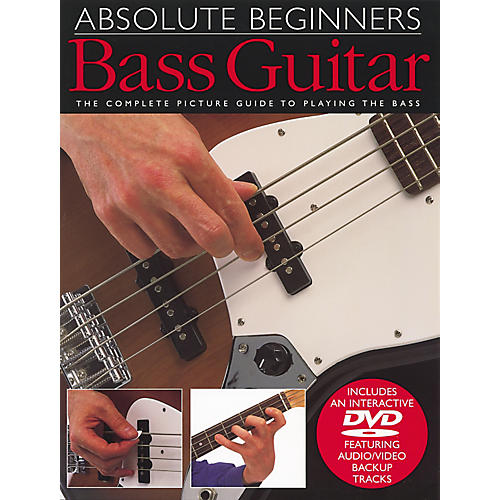 Music Sales Absolute Beginners Bass Guitar Book and DVD